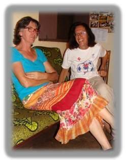 Tere y Elia LMC en Mongoumba